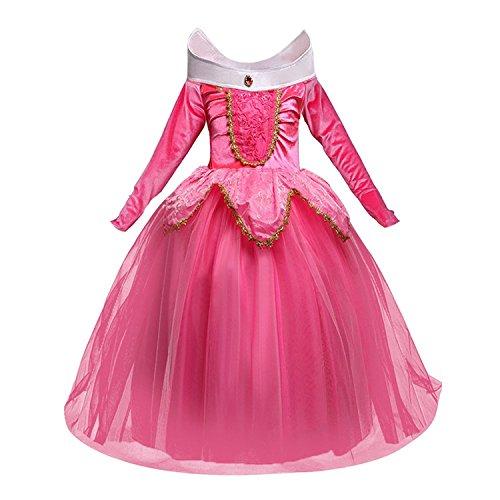 Disfraz de princesa Aurora Sleeping Beauty Dress para niña Little Carnival Dress 856