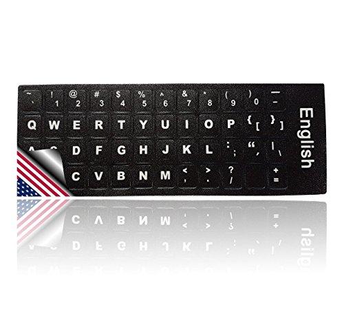 LEDELI Tastaturaufkleber Tastatur Aufkleber Keyboard Sticker Tastatur-Aufkleber für PC, Laptop, Notebook, Computer-Tastaturen (QWERTY US English Layout)