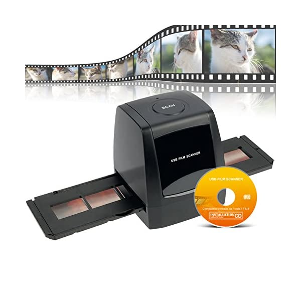 DIGITNOW! Negative/Positive Film Scanner with 3600DPI High Resolution, USB  35mm 135 Slide to Digital Conveter,Support Windows XP/Vista/7/8/10 (Not