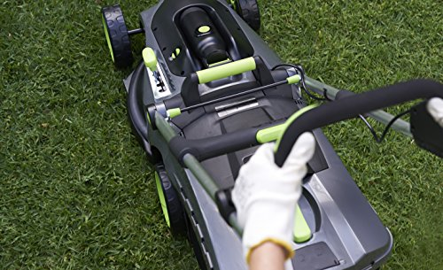 Gtech 1-05-005 Cordless Lawn Mower Vacuum Cleaner, 670 W, 40 Liters, Grey/Green/Black