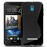 Conie Rückschale für HTC Desire 500 - Silikon Schutzhülle im S-Line Design Hülle aus TPU, Kratzfest Kantenschutz, Desire 500 Handyschale