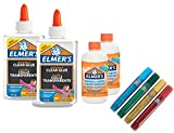 Elmer's Glue Slime Starter Kit, Clear Glue, Glitter Glue Pens and Magical Liquid Slime Activator Solution, Count of 8