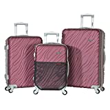 Olympia Sequoia 3 Piece Expandable Spinner Set, Wine
