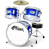 Tiger 3 Piece Junior Drum Kit - Blue