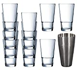 Elisa Hiball Glasses 12.3oz / 350ml - Set of 6 | Elisa Tumblers, Highball Glasses, Juic...