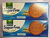 Pack (2 x 400 gr). Gullon Zuckerfrei Digestive Kekse