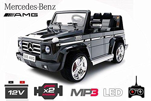 RC Kinderauto kaufen Kinderauto Bild 1: Lizenz Kinderauto Mercedes - Benz G55 AMG 2x 35W Motor MP3 RC SUV Jeep Elektroauto Kinderfahrzeug Ferngesteuert Elektro Auto (Schwarz)*