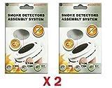 x2 Support aimant pour détecteur de fumée