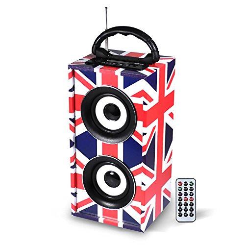 Mini enceinte colonne autonome USB/SD/AUX/BLUETOOTH/FM 12W design drapeau United Kingdom