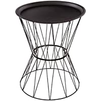 Paris Prix–Mesa Auxiliar Design 'Kate' 52cm Negro