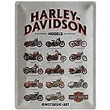 Nostalgic-Art 23233Harley-Davidson Model Chart, Plaque en métal 30x 40cm, Multicolore, 30x 40x 0,2cm