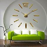 Aemember Wanduhr_Amazon Diy Spiegel Wall-Clock Wohnzimmer Uhren Großhandel, Gold G010