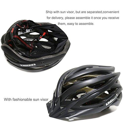 Shinmax Specialized Bike Helm mit Sicherheitslicht, Verstellbare Sport Fahrradhelm Fahrrad Fahrradhelme für Road & Mountain Biking, Motorrad für Erwachsene Männer und Frauen, Jugend – Racing, Sicherheit Schutz (Blau) - 6