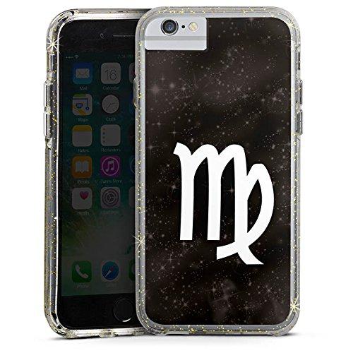 Apple iPhone 6 Bumper Hülle Bumper Case Glitzer Hülle Jungfrau Sternzeichen Astrologie Bumper Case Glitzer gold
