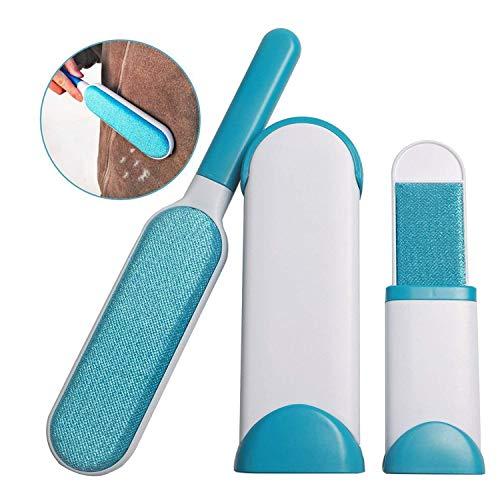 Z@SS Haustier-Haar-Entferner-Bürste, Doppelseitige Bürste Mit Selbstreinigende Basis Für Kleidung und Möbel - Haustier-haar-möbel-entferner