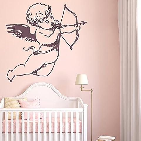 Cherub Et Cupids Anges et les ailes damour Bow Stickers muraux Home Decor Stickers Art disponible en 5 dimensions et 25 couleurs Très Grand Vert mousse