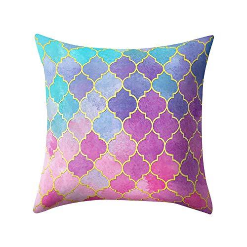 VJGOAL Hexagonal de Nido de Abeja de impresión Suave Cojín Cómodo Funda...