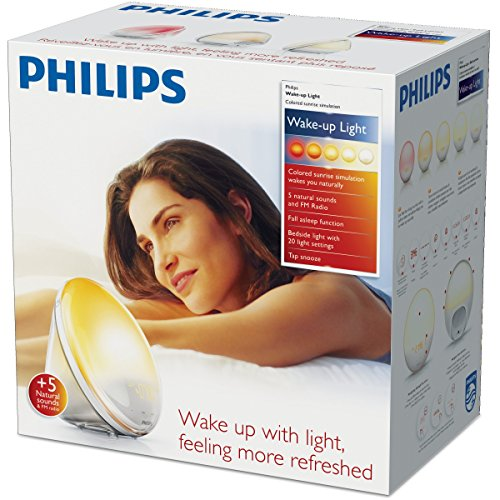 Philips HF3520/01 Wake-Up Light (Sonnenaufgangfunktion, digitales FM Radio, Tageslichtwecker) weiß - 7