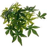 Karazhan - Planta acuática Acuario pecera Verde Hoja decoración Artificial Falso Colgante