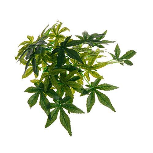 Biniwa Aquatische Pflanze Grünes Blatt Aquarium Aquarium Dekoration Künstliche Fake Hängende Landschaft