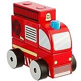 Ultrakidz Feuerwehrauto aus Holz, 7-teilig