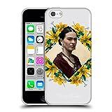 Head Case Designs Offizielle Frida Kahlo Gelbe Lilien Portrait 2 Soft Gel Hülle für iPhone 5c