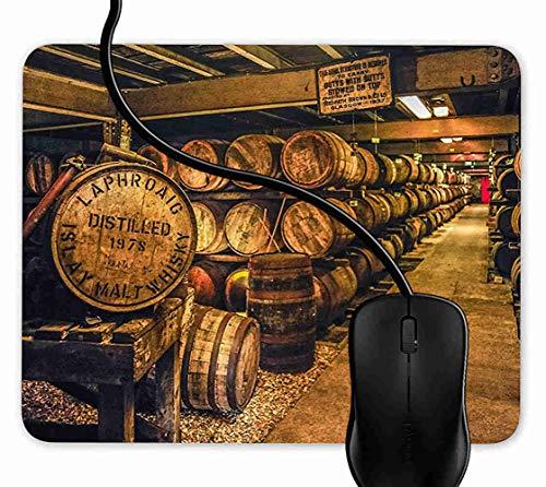 SGSKJ Alfombrilla de Ratón para Gaming de Alfombrilla de Cuadrado Mouse Pad Destilería Escocesa Whisky Edad madura Malta Soporte para Ordenador, PC y Portátil 1F2187