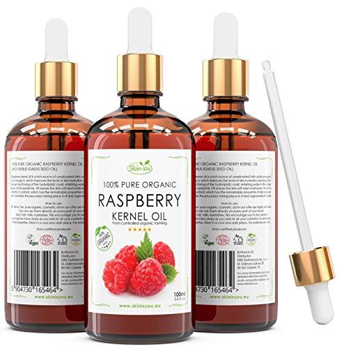 Frambuesa Aceite 100% del cuerpo y el pelo puro y orgánico, 100ml