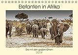 Elefanten in Afrika - Die mit den großen Ohren (Tischkalender 2019 DIN A5 quer): Imponierende Geschöpfe mit ausgeprägtem Familiensinn (Monatskalender, 14 Seiten ) (CALVENDO Tiere)