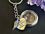 Llavero conmemorativo medallón de plata semilla de diente de león - regalo de simpatía joyas memorial llavero corazón