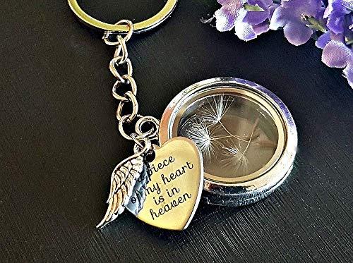 Llavero conmemorativo medallón de plata semilla de diente...