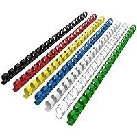 RAYSON Lot de 100 Peignes de reliure plastique 21 anneaux 6mm Multicolore