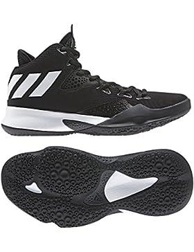 Adidas Dual Threat 2017 J - Zapatillas de baloncesto, Unisex Infantil, Negro(