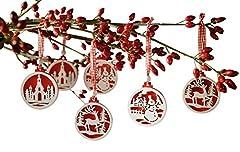 Idea Regalo - Frank Flechtwaren - Decorazioni per albero di Natale, confezione da 18
