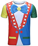 Cosavorock Herren Clown Kostüm T-Shirts (AS:4XL, EUR:XXL)