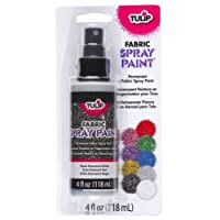 I Love To Create Tulip Fabric Spray Paint 4oz-Black Glitter, Other, Multicoloured, 6.19 x 11.27 x 20.41 cm