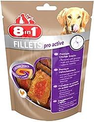 8in1 Fillets Pro Active Größe S (funktionale Leckerlies für Hunde, Hähnchensnack mit speziellem Nutri-Center zur Unterstützung der Mobilität), 80 g Beutel
