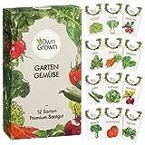 Gemüse Samen Set von OwnGrown, 12 Sorten Premium Gemüse Saatgut, Gemüse anbauen im Garten oder Hochbeet, Gemüsesamen Sortiment im praktischen 12er Gemüseset