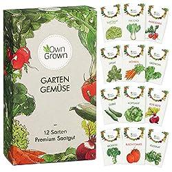 🌱 GEMÜSESAATGUT SET MIT 12 SORTEN Das OwnGrown Premium Gemüseset bietet Samen für den Anbau von 12 beliebten und köstlichen Gemüsesorten. Diese Mischung eignet sich auch ganz hervorragend als Geschenk-Set! ENTHALTENE GEMÜSESORTEN In unserem Set sind ...