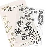 Clear Stamp-Set Stempel-Gummi Karten-Kunst - Braver Schneemann