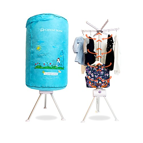 concise-home-portable-electric-clothes-dryer-home-dorms-hot-air-machine-stand-rack-with-cover