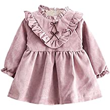 Ropa bebé Amlaiworld Niñas bebé otoño manga larga princesa vestido ...