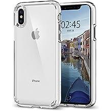 Coque iPhone X, Spigen® [Ultra Hybrid] AIR CUSHION [Crystal Clear] Transparent / TPU Bumper / Coque pour Apple iPhone X (2017) - (057CS22127)