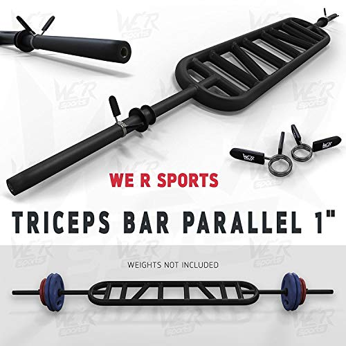 Post Hole Bar (We R Sports Triceps Bar Parallel and Angled Handle Multi Grip Standard Bar 1