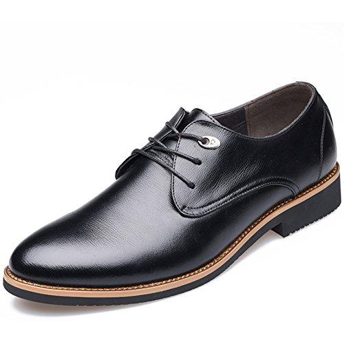 Leather scarpe/Scarpe casual business/A punta scarpe d'Inghilterra/ vestito di cuoio calzature con lacci-A Lunghezza (Nero Smooth Pu Bambini Scarpe)