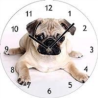 Süßer Mops Hund Wanduhr Bilderuhr Uhr Deko
