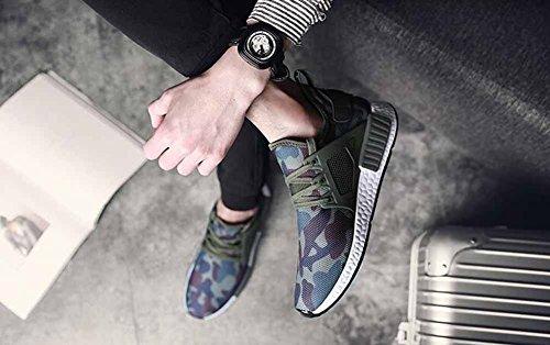 Uomini Scarpe sportive camouflage Autunno Nuovi pantaloni traspiranti traspiranti Scarpe Skateboard Fashion Green