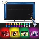 Sunix LED TV Beleuchtung 2m USB TV Hintergrundbeleuchtung mit 20 Farben RGB und 4 Dynamischen Effekten für 32 42 43 50 55 60 Zoll TV-Bildschirm, PC Monitor, Led Beleuchtung