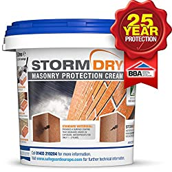 Stormdry Masonry Protection Cream 5L - The Only BBA Certified Brick Waterproofer - Proven 25 Year Protection Against Penetrating Damp