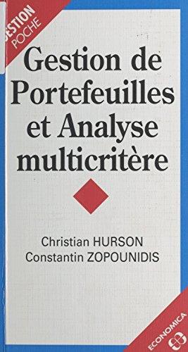 Gestion de portefeuille et analyse multicritère